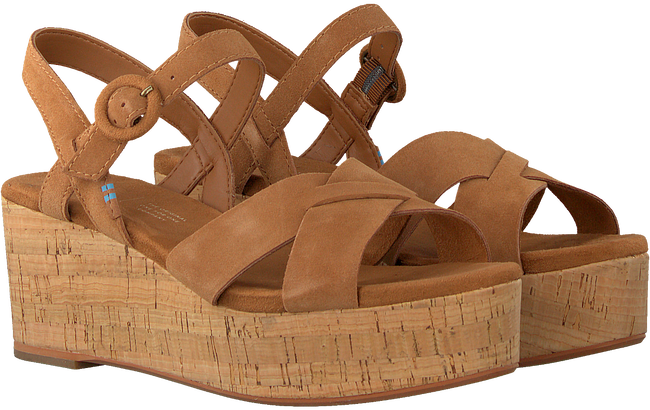 Cognac TOMS Sandalen WM WILLOW WDGE  - large
