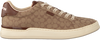 Bruine COACH Lage sneakers ADB SIG JACQUARD LOW TOP  - small