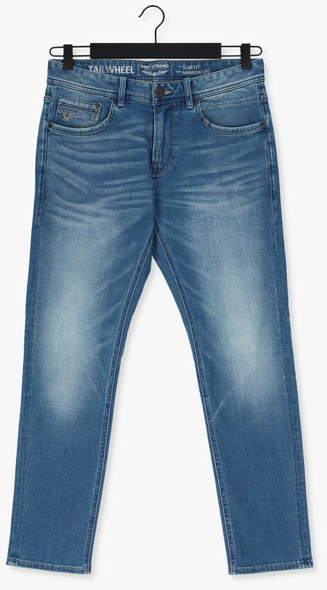 Donkerblauwe PME LEGEND Slim fit jeans TAILWHEEL SOFT MID BLUE - larger