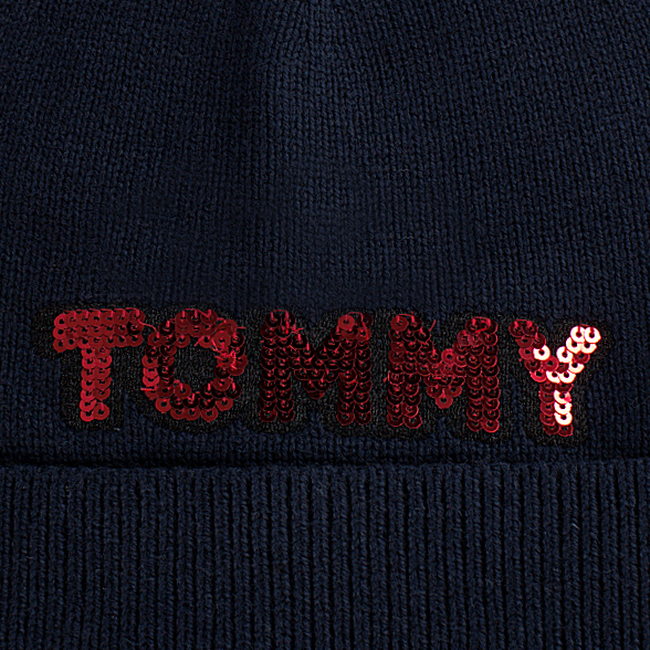 TOMMY HILFIGER  Muts PATCH KNIT BEANIE  - large