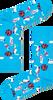 Blauwe HAPPY SOCKS Sokken PARK TURKOS SOCK  - small