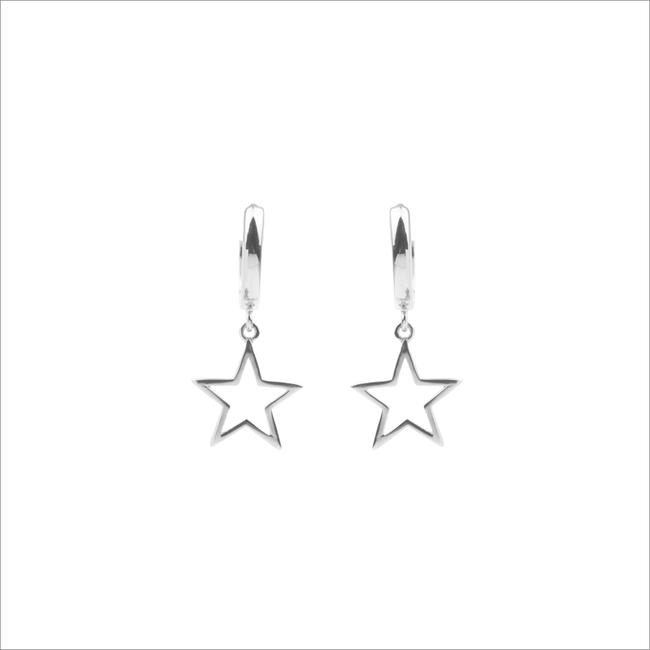 Zilveren ATLITW STUDIO Oorbellen SOUVENIR EARRINGS STAR - large