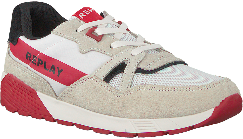 Witte REPLAY Sneakers MIAMI  - larger