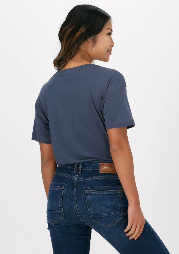 Blauwe MOS MOSH T-shirt LEAH HOLI O-SS TEE - larger