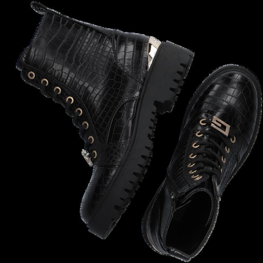 Zwarte GUESS Veterboots OMALA  - larger