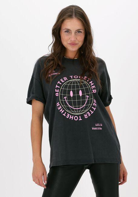 Antraciet CATWALK JUNKIE T-shirt TS GRID SMILEY - large