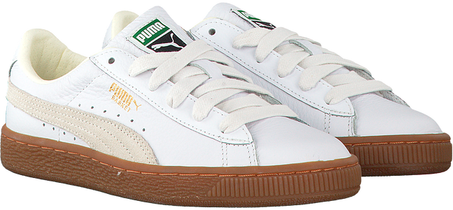 Witte PUMA Sneakers BASKET CLASSIC GUM DELUXE JR - large