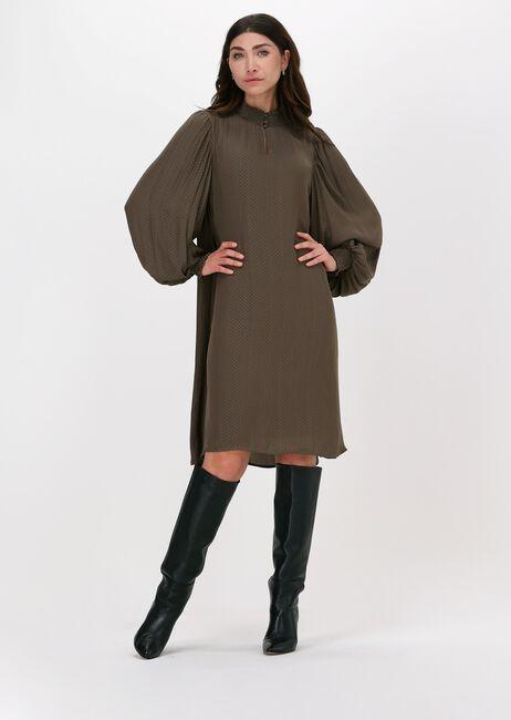 Taupe BRUUNS BAZAAR Midi jurk PRICKLY S METTE DRESS - large