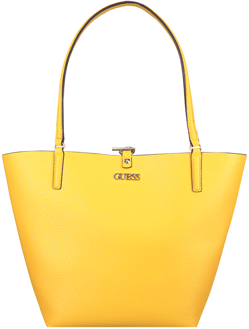 Gele GUESS Handtas ALBY TOGGLE TOTE  - large