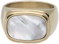 Gouden NOTRE-V Ring RING GROTE STEEN