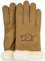 Bruine UGG Handschoenen SHEEPSKIN LOGO - medium