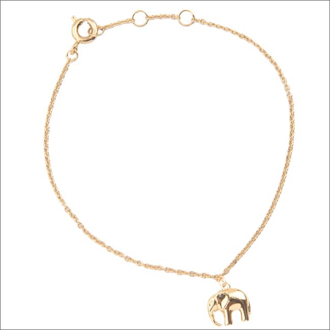 Gouden ATLITW STUDIO Armband SOUVENIR BRACELET ELEPHANT - large