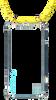 Gele KASCHA-C Telefoonkoord PHONECORD IPHONE X/XS  - small