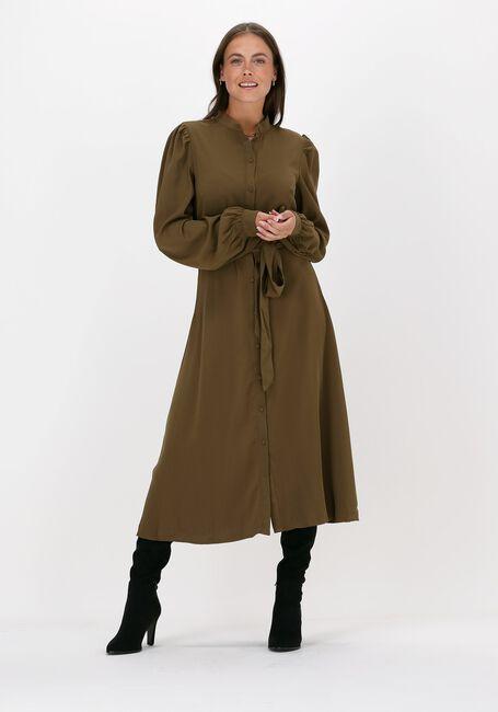Groene NA-KD Midi jurk BALLON SLEEVE MIDI DRESS - large