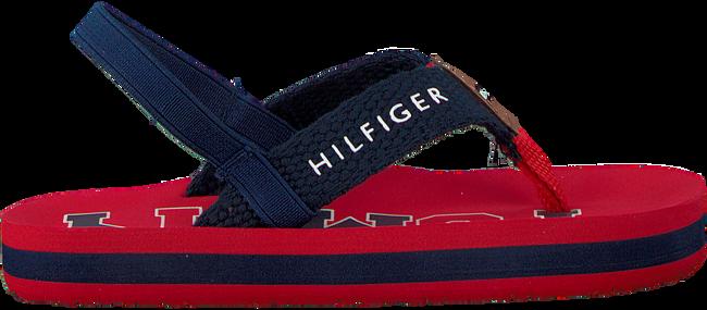 Rode TOMMY HILFIGER Slippers VARSITY PRINT FLIP FLOP  - large
