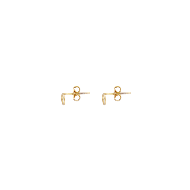 Gouden ALLTHELUCKINTHEWORLD Oorbellen PETITE EARRINGS CIRCLE - large
