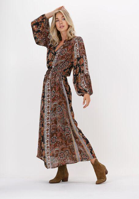 Bruine SUMMUM Maxi jurk DRESS FLOWER PRINT  - large