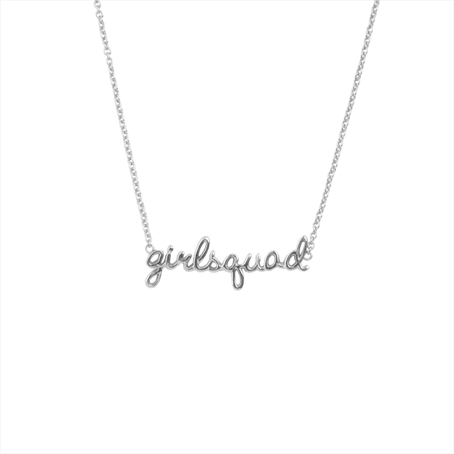 Zilveren ATLITW STUDIO Ketting URBAN NECKLACE GIRLSQUAD - large