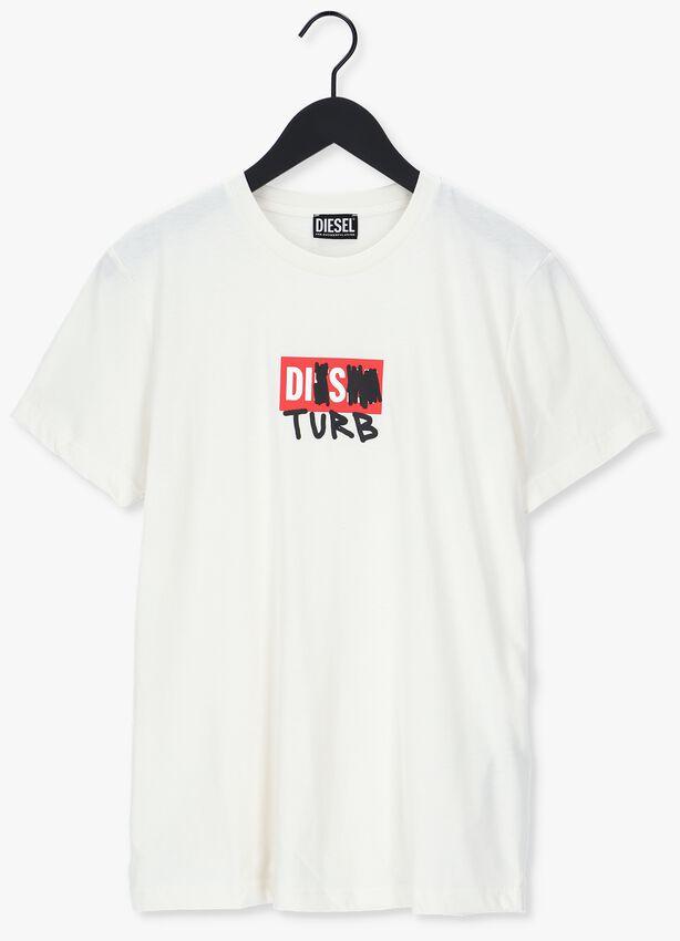 Gebroken wit DIESEL T-shirt T-DIEGOS-B10  - larger