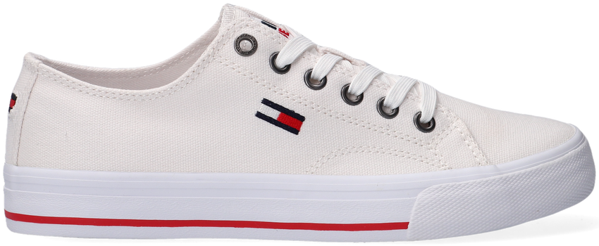 Witte TOMMY HILFIGER Lage sneakers TOMMY JEANS LOW CUT VULC  - larger