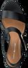 Zwarte TOMMY HILFIGER Sandalen FEMININE HEEL OVERSIZED BUCKLE  - small