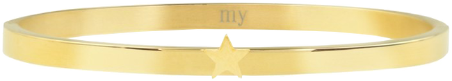Gouden MY JEWELLERY Armband STAR BANGLE - large