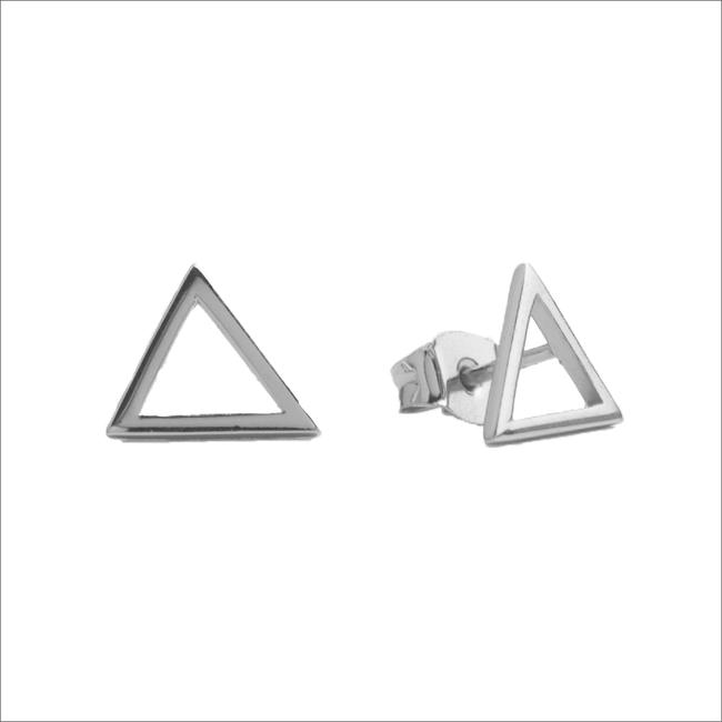 Zilveren ATLITW STUDIO Oorbellen PARADE EARRINGS OPEN TRIANGLE - large