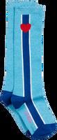 Blauwe LE BIG Sokken STEFFIE KNEE HIGH  - medium