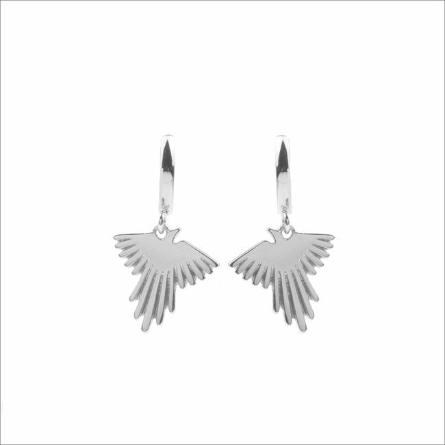 Zilveren ATLITW STUDIO Oorbellen SOUVENIR EARRINGS EAGLE - large