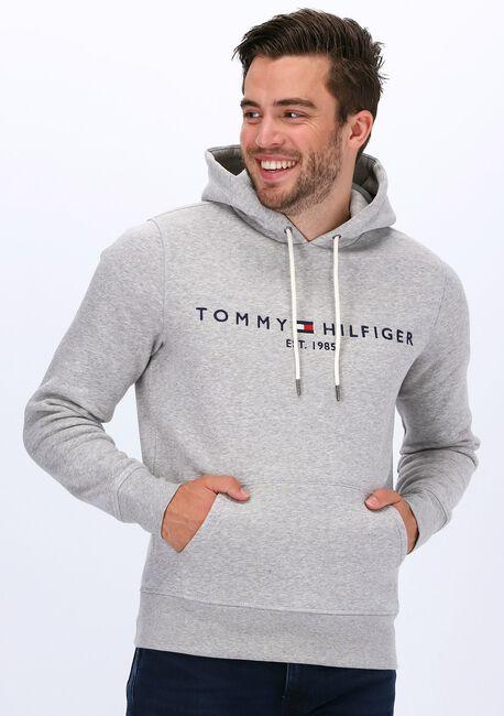 Lichtgrijze TOMMY HILFIGER Sweater CORE TOMMY LOGO HOODY  - large