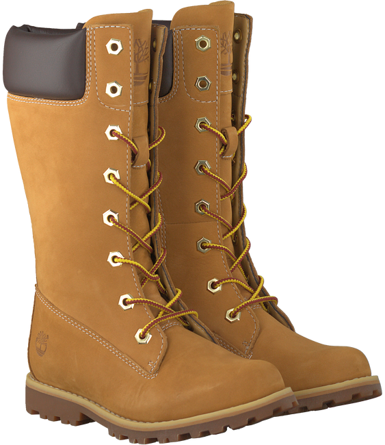Camel TIMBERLAND Lange laarzen GIRLS CLASSIC TALL LACE-UP  - large