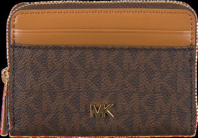 Bruine MICHAEL KORS Portemonnee MONEY PIECES ZA COIN CARD CASE  - large