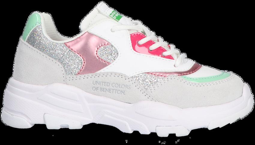 Witte BENETTON Lage sneakers VAST GLITTER  - larger