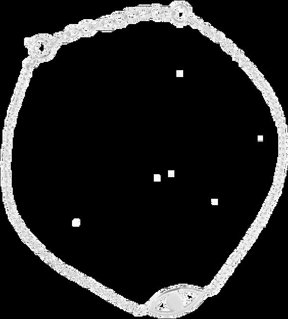 Zilveren ALLTHELUCKINTHEWORLD Armband FORTUNE BRACELET EYE - large