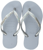 Grijze HAVAIANAS Teenslippers KIDS SLIM SHINY  - small
