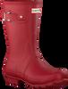 Rode HUNTER Regenlaarzen WOMENS ORIGINAL SHORT - small