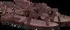Bruine FRED DE LA BRETONIERE Sandalen 170010026  - small