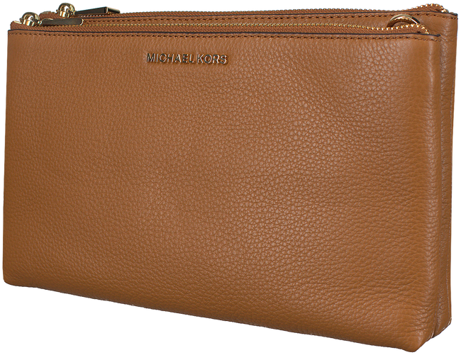 Cognac MICHAEL KORS Schoudertas DBL ZIP CROSSBODY - large