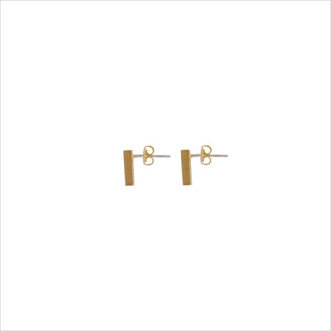 Gouden ALLTHELUCKINTHEWORLD Oorbellen ELEMENTS EARRINGS BAR - large