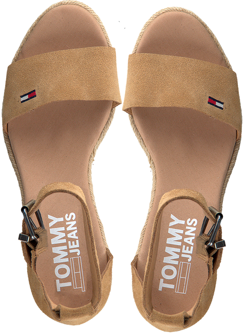 Cognac TOMMY HILFIGER Sandalen NATURAL WEDGE  - large