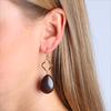 Bruine JEWELLERY BY SOPHIE Oorbellen CLOVER EARRINGS - small