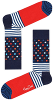 Blauwe HAPPY SOCKS Sokken STRIPES & DOT  - medium