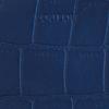 Blauwe LOULOU ESSENTIELS Schoudertas SHINY CROCO - small