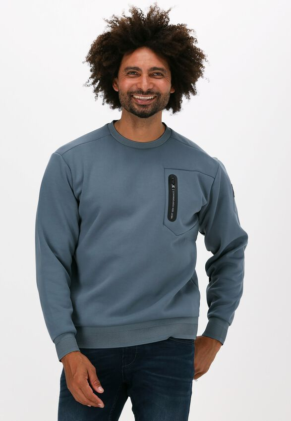Lichtblauwe PME LEGEND Sweater R-NECK FANCY SWEAT XV - larger