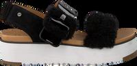 Zwarte UGG Sandalen FLUFF CHELLA  - medium