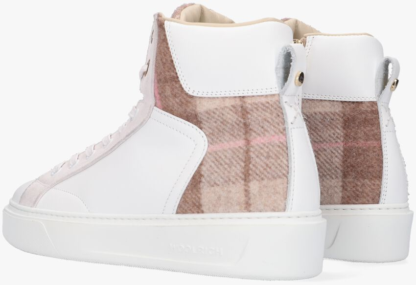 Witte WOOLRICH Hoge sneaker CLASSIC COURT MID  - larger
