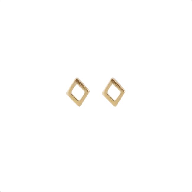 Gouden ATLITW STUDIO Oorbellen PETITE EARRINGS RHOMB - large