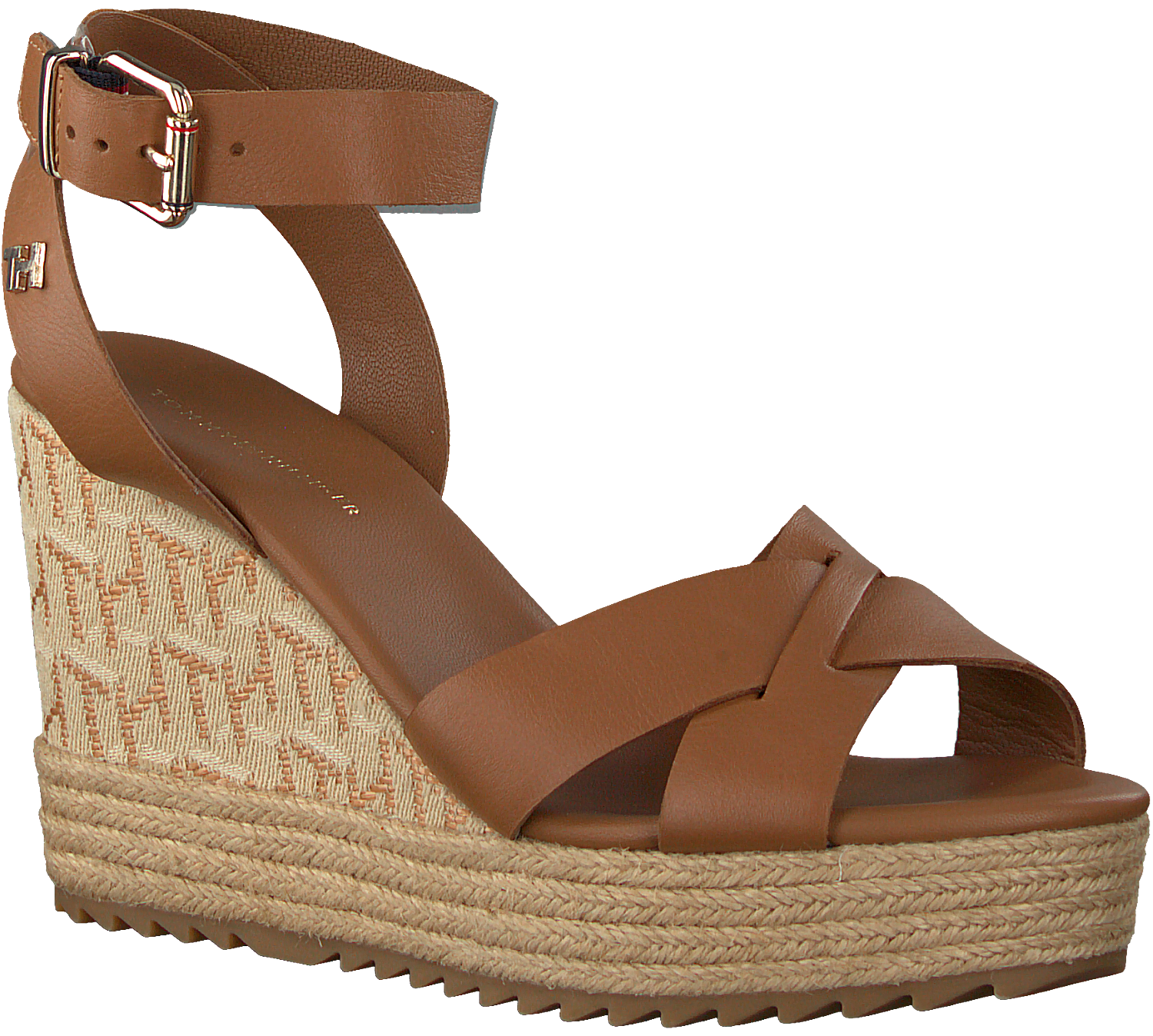 Cognac TOMMY HILFIGER Sandalen TH RAFFIA HIGH HEEL