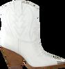Witte LOLA CRUZ Enkellaarsjes 293T10BK  - small