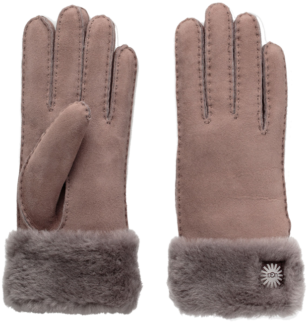 Taupe UGG Handschoenen TURN CLUF GLOVE - large